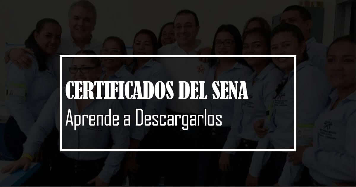 Descargar certificado sena