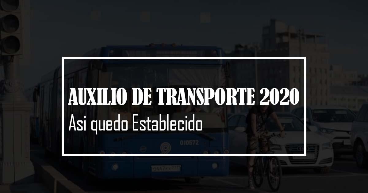 auxilio de transporte 2020