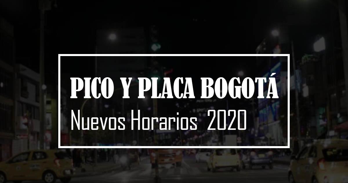 pico y placa bogotá 2020