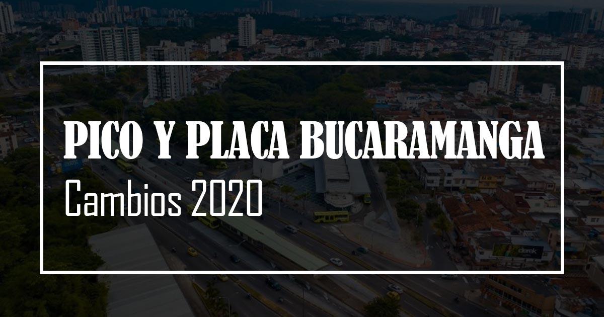 pico y placa bucaramanga 2020