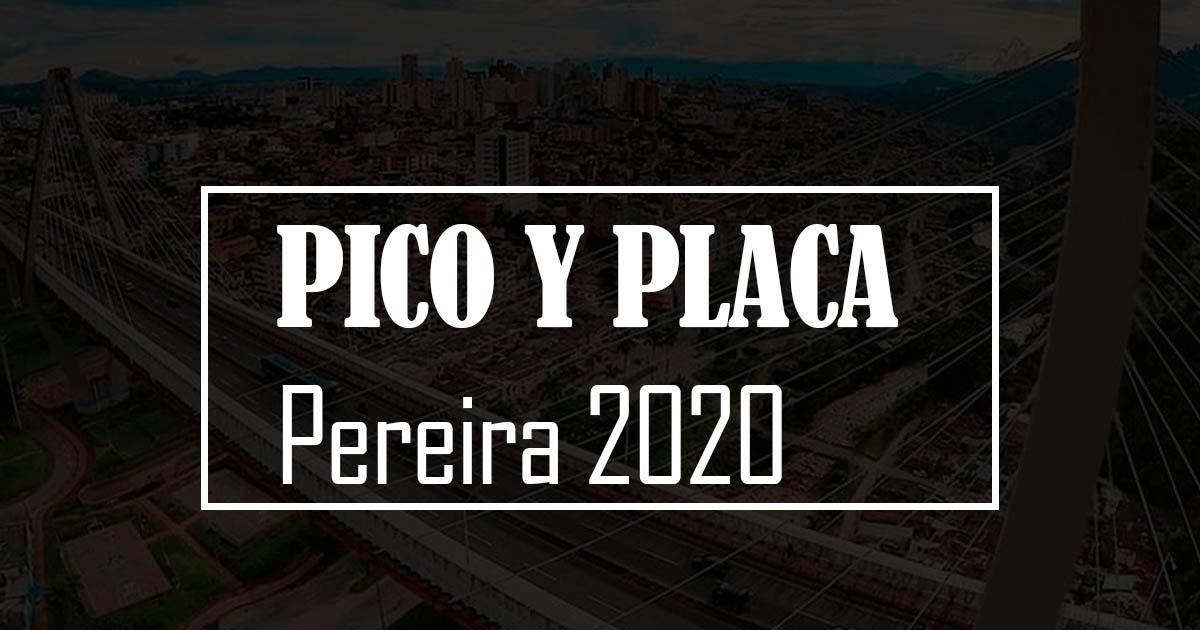 pico y placa pereira 2020