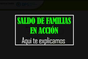 familias en accion consultar saldo