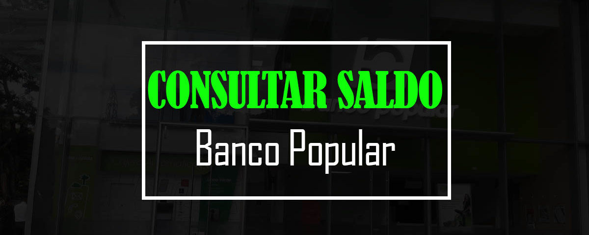 Consultar Saldo Banco Popular