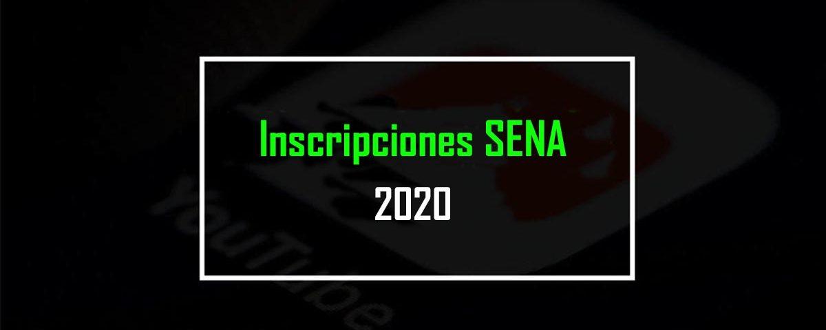 Inscripciones sena 2020