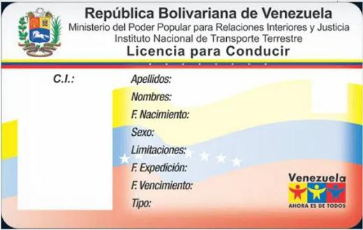 licencia de conducir en venezuela 2020