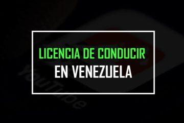 licencia de conducir en venezuela