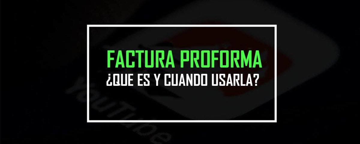 FACTURA PROFORMA 2020