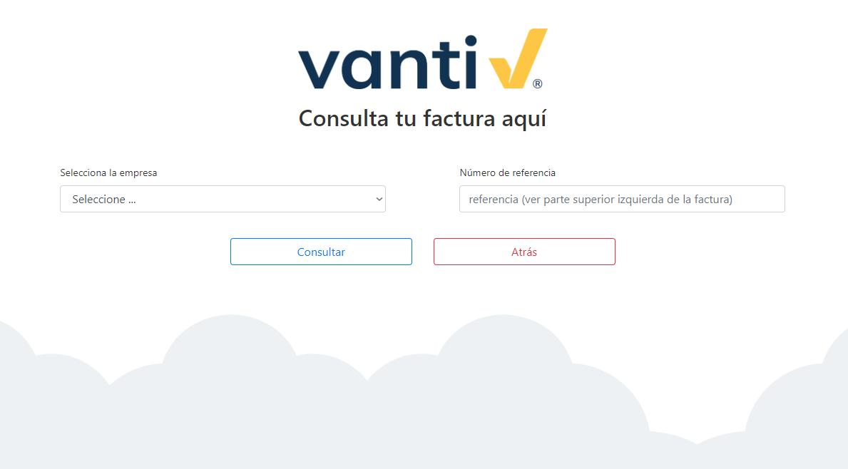 Consultar Factura Vanti