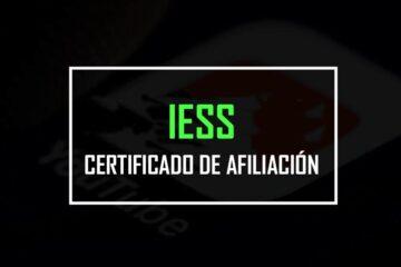 certificado de afiliacion iess