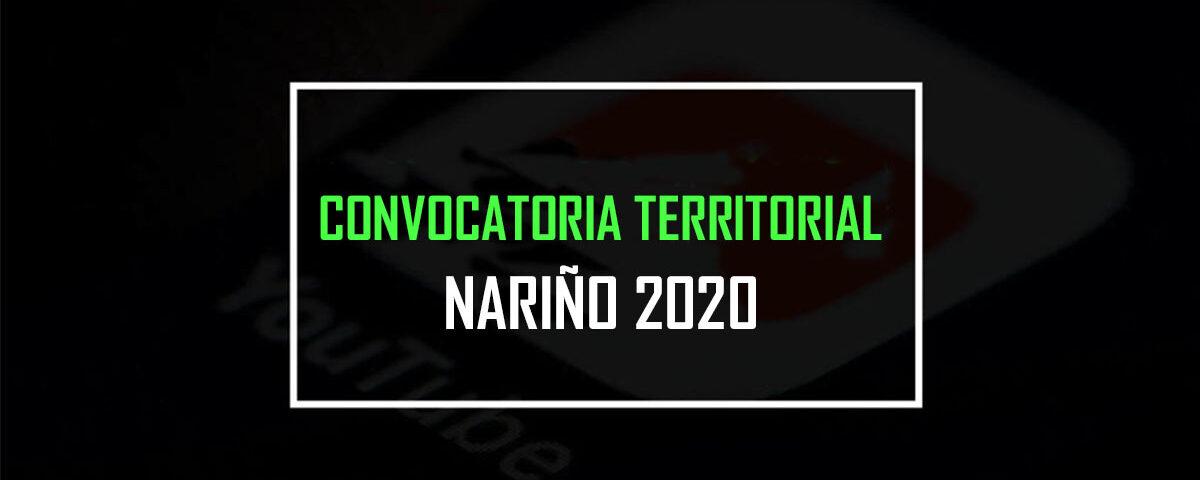convocatoria territorial nariño 2020