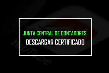 junta central de contadores certificado
