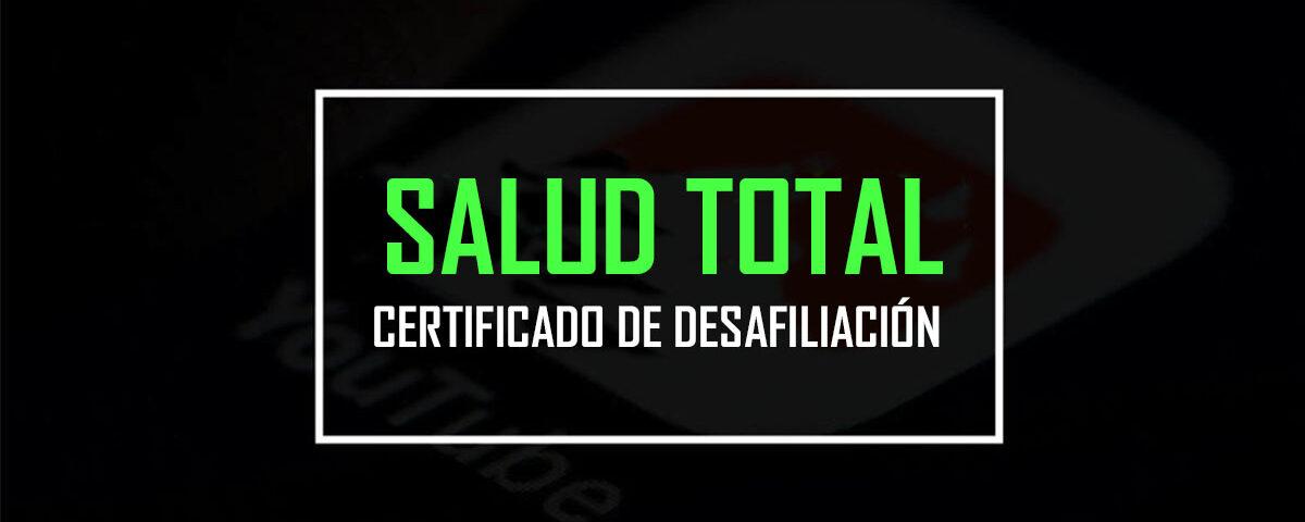 Salud total certificado de desafiliacion